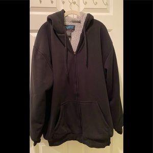 NWT Men's fleece sweatshirt.